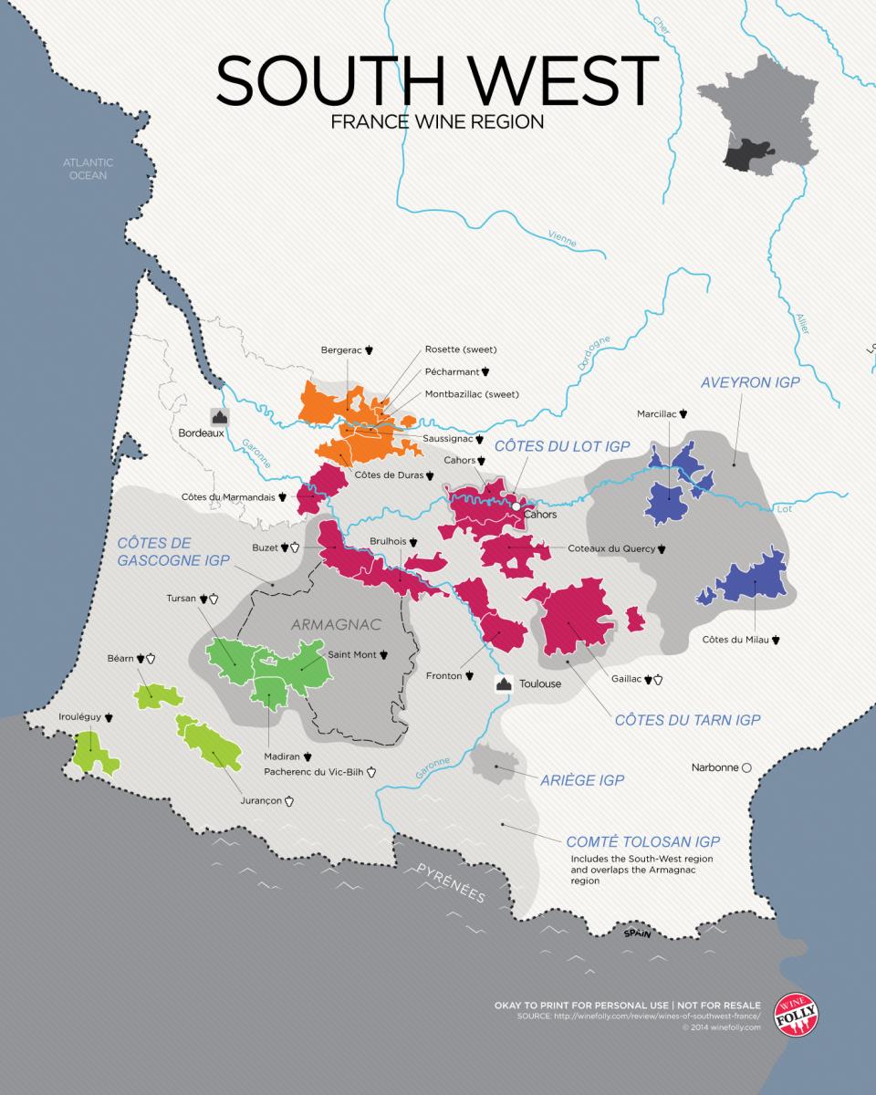 MAP OF SOUTH FRANCE - Recana Masana |Southwest France Map